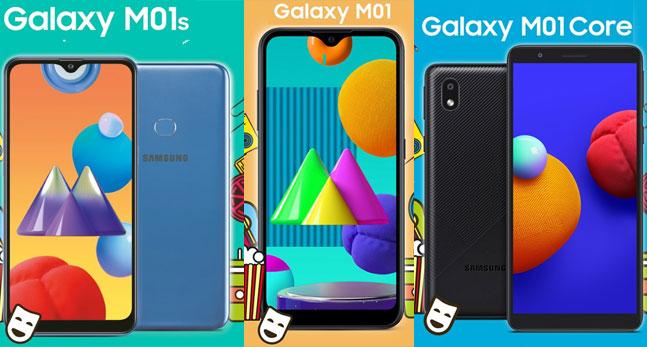 Samsung Galaxy M01, M01s e M01 Core ufficiali in India