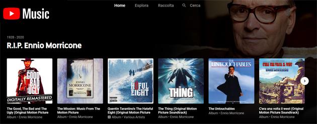 Ennio Morricone, tutte le piattaforme streaming musicale omaggiano il compositore scomparso - Apple Music, Spotify, TIDAL, Youtube Music, Amazon Music e non solo