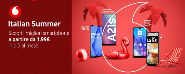 Vodafone con Italian Summer 2020 sconta una selezione di smartphone