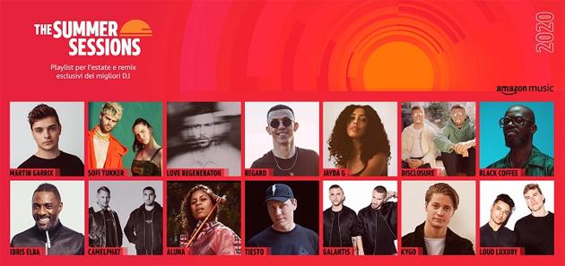 Amazon Music lancia le Summer Sessions anche con brani in esclusiva dai migliori DJ internazionali