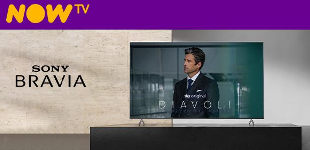 NOW TV su Sony Android TV, app ora disponibile