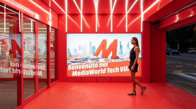 Primo Tech Village MediaWorld italiano con spazi espositivi dedicati ai grandi brand inaugurato a Milano