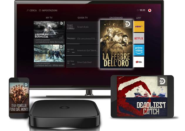 Vodafone e Discovery rinnovano partnership sui contenuti per Vodafone TV, dove arriva anche Dplay Plus