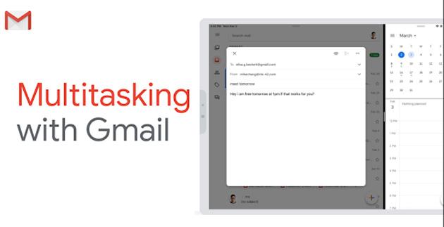 Gmail su iPad funziona in Multitasking con altre app iOS grazie a SplitView