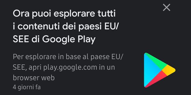 Google consente di esplorare il Play Store di altri paesi Europei SEE