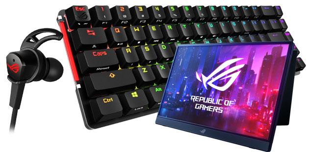 Asus ROG lancia accessori da gioco Falchion, Cetra RGB e Strix XG16 anche per smartphone