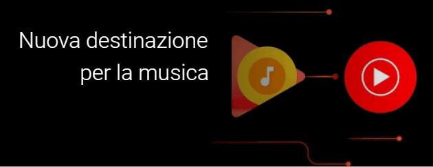 Google informa via mail che Play Music viene ritirato e sostituito da Youtube Music a breve
