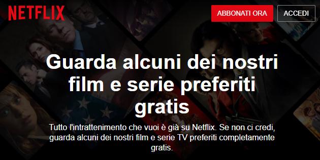 Netflix fa guardare alcuni suoi film e serie gratis, senza registrazione