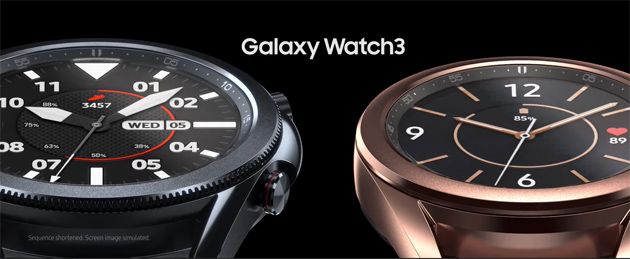 Samsung Galaxy Watch3 con ghiera fisica girevole, spO2, ECG e altro ufficiale
