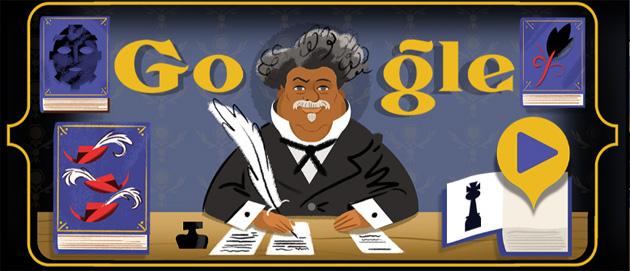 Google dedica doodle allo scrittore francese Alexandre Dumas