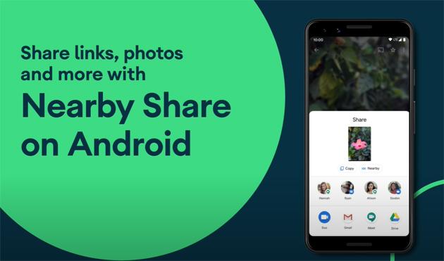 Nearby Share il nuovo sistema di condivisione file su Android
