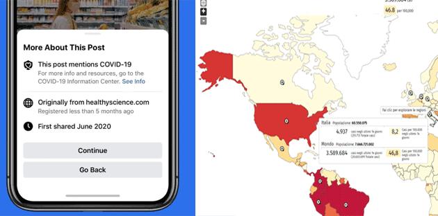 COVID-19, da Facebook e Google nuovi strumenti informativi