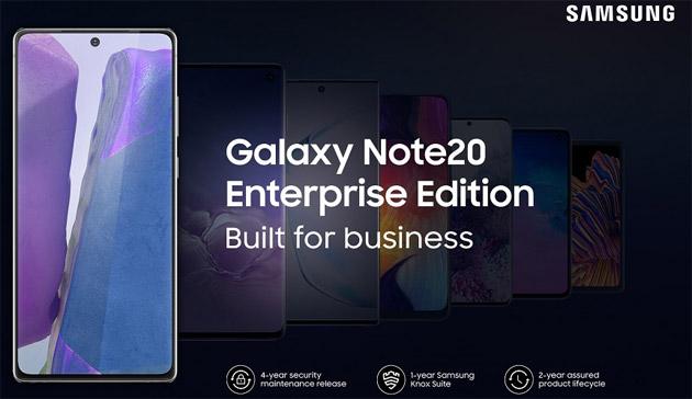 Samsung Galaxy Note20 5G e Galaxy Tab S7 Enterprise Edition ufficiali in Germania