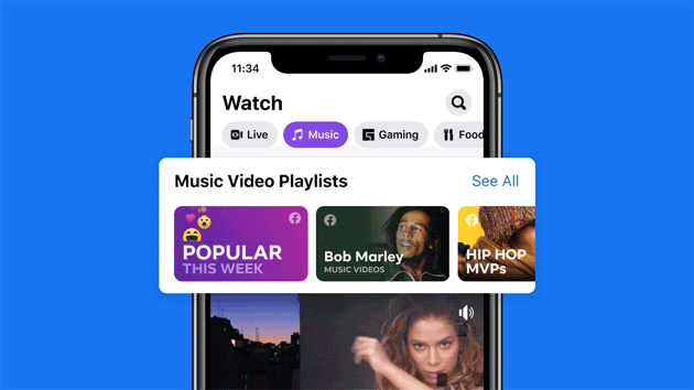 Su Facebook arrivati i Video Musicali e nuove esperienze social legate alla musica