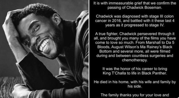 Chadwick Boseman, dal suo account Twitter condiviso il tweet il tweet piu' piaciuto di sempre