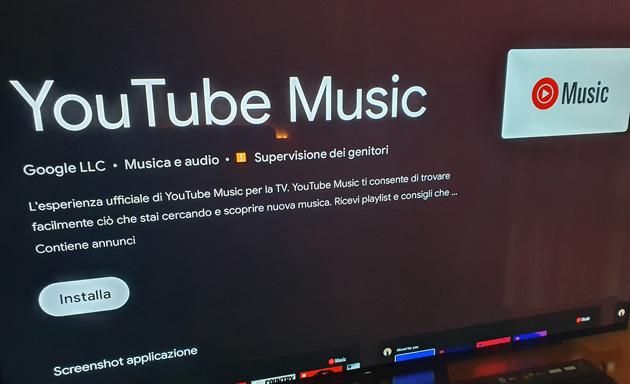 Youtube Music su Android TV, app ufficiale disponibile