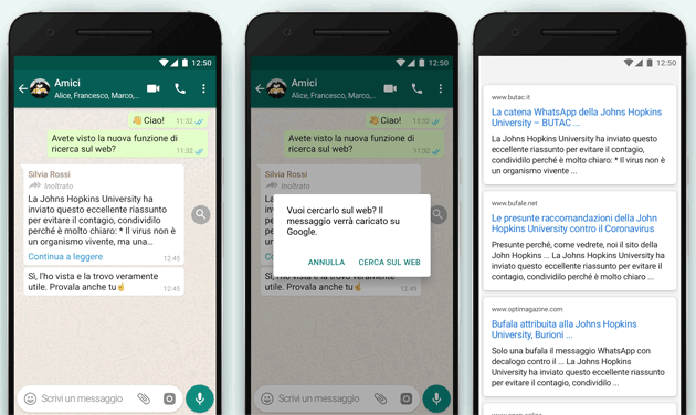Whatsapp aggiunge la Ricerca sul Web tramite Lente di Ingrandimento: come funziona, a cosa serve