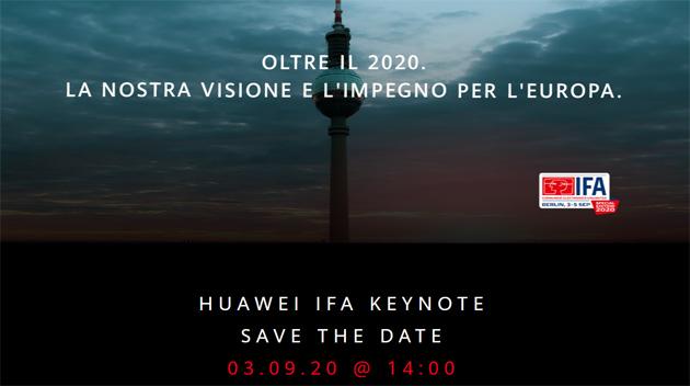 Huawei a IFA 2020, conferenza stampa per conoscere (forse) Mate40 e nuovo Kirin il 3 settembre