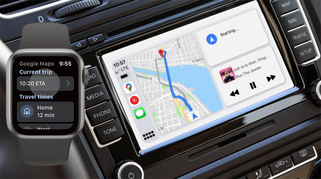 Google Maps torna su Apple Watch e arriva su CarPlay Dashboard