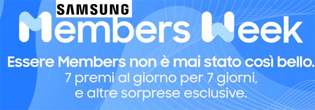 Samsung Members Week: 7 giorni di premi e sorprese dal 14 al 20 Settembre 2020