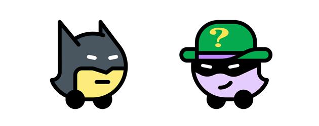 Batman e Enigmista personalizzano Waze