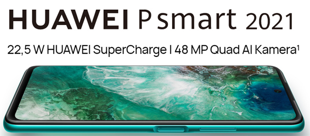 Foto Huawei P Smart 2021 con ampio display 6.67, 48MP in Quad-Camera e batteria da 5000mAh ufficiale