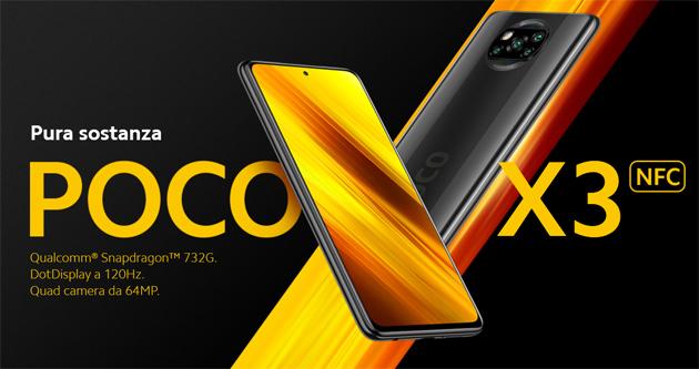 Poco X3 NFC con Snapdragon 732G ufficiale in Italia