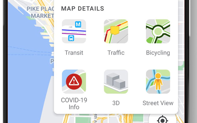 Google Maps, il nuovo livello Covid19 mostra chiaramente la situazione dei contagi sulla mappa