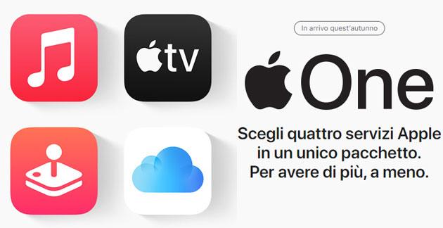 Apple One ufficiale, un solo piano per accedere ai servizi in abbonamento di Apple
