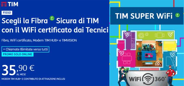 TIM SUPER WIFI con rete WiFi certificata da un tecnico TIM