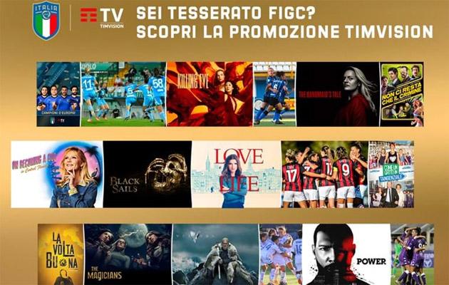 TIMvision ai tesserati FIGC in promozione per sei mesi