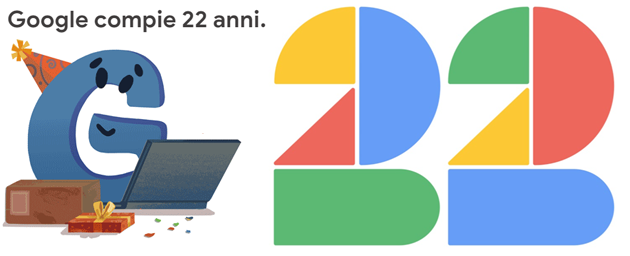 Google compie 22 anni, festeggia con un doodle speciale e sconto su Google Store