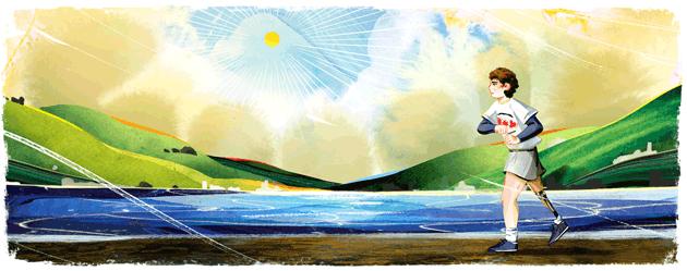 Google dedica doodle a Terry Fox, atleta canadese e attivista nella lotta contro il cancro