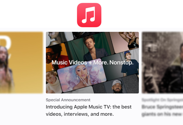 Foto Apple lancia Apple Music TV, canale con video musicali e interviste esclusive