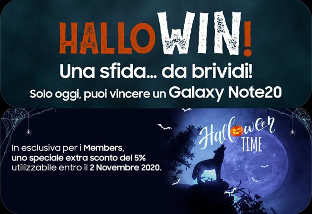 Samsung ad Halloween regala un Galaxy Note20 e offre Extra Sconto tramite Members
