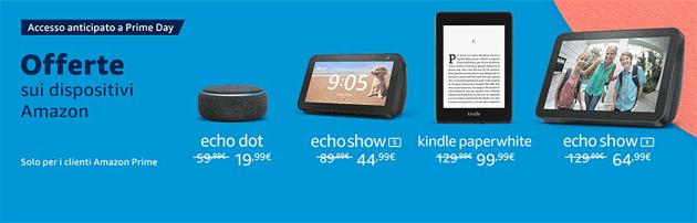 Prime Day 2020, tutti i dispositivi Amazon in offerta (Fire, Echo, Kindle, ecc)