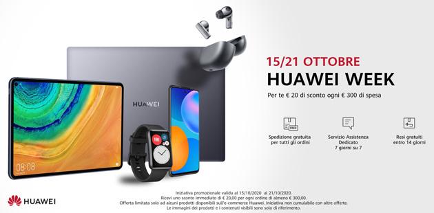 Huawei Store Online: Offerte e Promozioni del 15 e 21 Ottobre 2020
