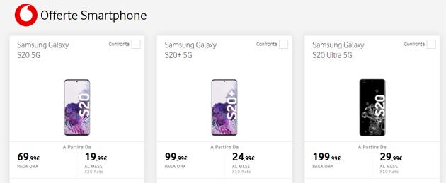 Vodafone: tutti gli smartphone in catalogo acquistabili a Ottobre 2020