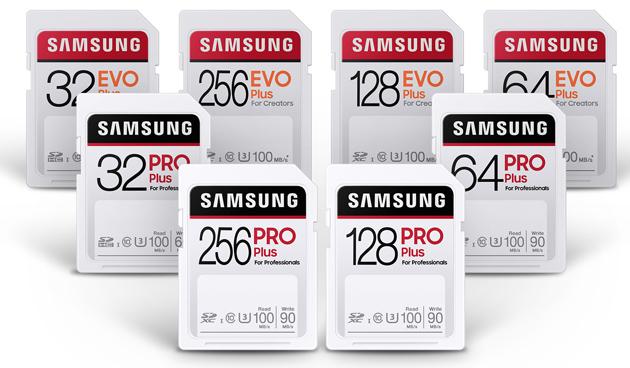 Samsung presenta le schede SD PRO Plus ed EVO Plus