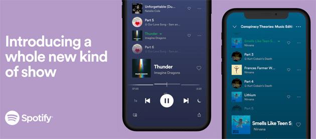 Spotify lancia gli show musicali: adesso i podcast esclusivi possono combinare musica parole