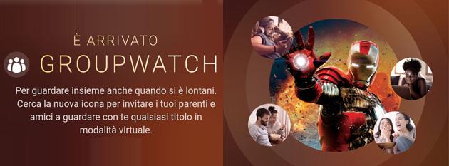 GroupWatch su Disney Plus per vedere contenuti insieme fino a 7 persone come funziona