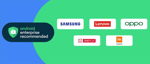 Android Enterprise Recommended aggiunge Samsung, Lenovo, Oppo, OnePlus e Xiaomi tra i partner