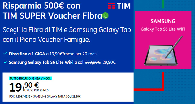 TIM Super Voucher, offerta che comprende il Bonus da 500 euro per Internet e PC o Tablet del Governo