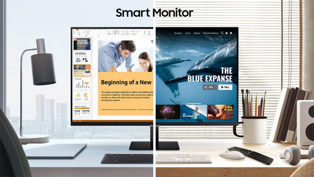 Foto Samsung Smart Monitor, display All-In-One per Lavoro, Studio e Intrattenimento