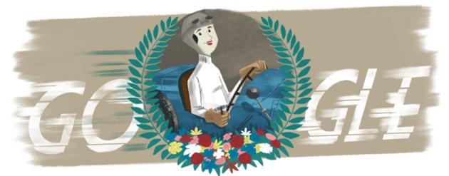 Google dedica doodle a Eliska Junkova, la 'Regina del volante'