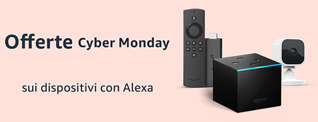 Foto Cyber Monday 2020, tutti i dispositivi Amazon scontati (Fire, Echo, Kindle, ecc)