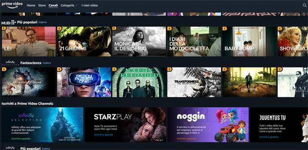 Amazon Prime Video lancia Canali in Italia