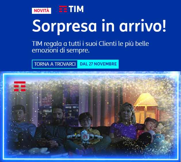 Foto TIM ha una sorpresa in arrivo per Black Friday