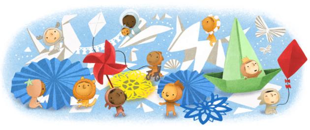 Google doodle per la Festa dei Bambini 2020