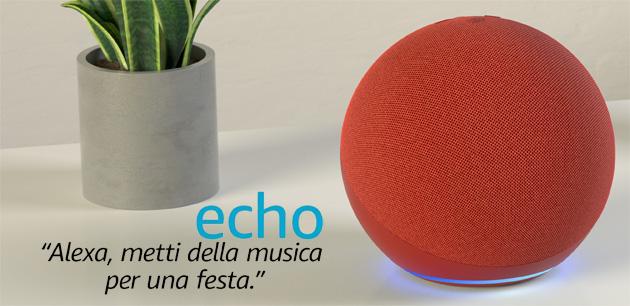 Amazon lancia Echo 4 in edizione limitata RED